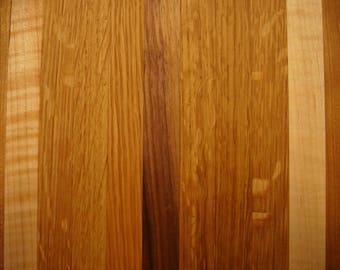 Black Walnut Red & White Oak Cheese Board 11in by 8in.