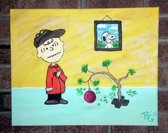 Charlie Brown painting