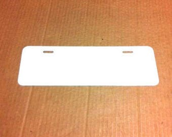 "24 pcs.024 4""x12""Gloss White Aluminum License Plate/Car Tag Blanks, masked."