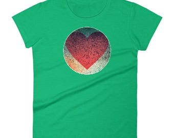 "YouJustKnow Women's short sleeve t-shirt ""Heart"""