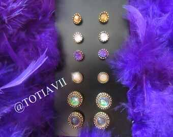 6 Different Earring color Gold and Silver New design Fashion (J5)