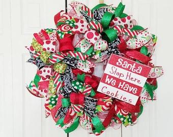 Santa We Have Cookies - Christmas Wreath