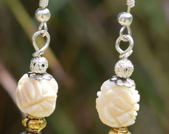 Valkyrja Jewellery- Rose Flower Earrings
