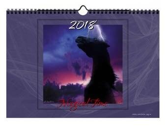 Kalendarz Ścienny Planszowy 2018 - Magiczny Rok - Ilustracja Fotomontaż