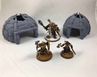 Warhammer Terrain | Wargaming | Savage Huts Set | Wargaming Terrain | RPG | PrinTerrain