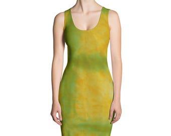 Adire Pattern Fitted Dress II