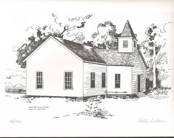 Signed and Dated Historic Prints Knoxville AR by Polly Loibner