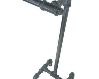 "Item # 116, Steampunk, Industrial design Toilet Paper Holder Stand, 1/2"" Steel Pipe"