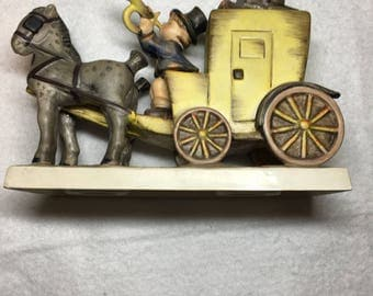 The Mail IS Here  226 Porcelain Figurine Goebel Horse Coach 1952