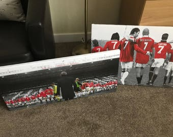 Manchester United Number 7s and The Sir Alex Years Canvas Package