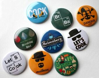 Breaking Bad pins, Heisenberg pin, Breaking Bad badge, badges, buttons