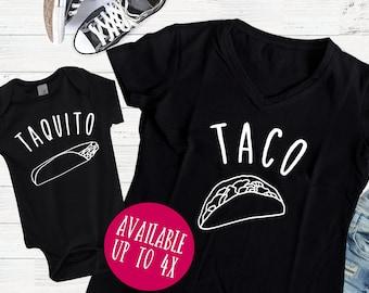 Taco Shirt | Mom and Me Shirts | Mom and Me | Mom and Me Tee | Mommy and Me T-Shirts | Mommy and Me | Taco and Taquito Shirts