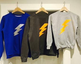 Women's and Childrens Lightening Bolt Sweatshirts