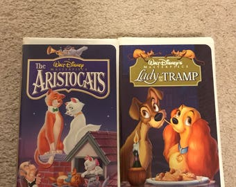 Lady and the Tramp and Aristocats Masterpiece Collection VHS