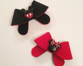 Minnie and Mickey Mouse Headbands