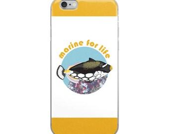 Marine Saltwater Aquarium iPhone Case - Clown Trigger Fish iPhone Case - Marine for Life