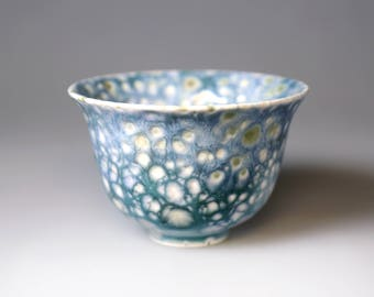 Glost-fired Earthen Teacup- Riched texture, Japanese style; Ceramic ware; ,handmade teacup, Unique gifts, only one available,Food safe glaze