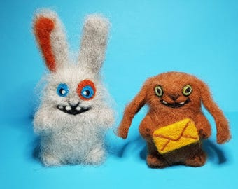 Crazy rabbits, wool gift,  funny rabbits
