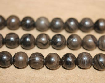 15 Inches Full strand,Natural Coffe Wood Jasper smooth round beads 8mm,loose beads,semi-precious stone