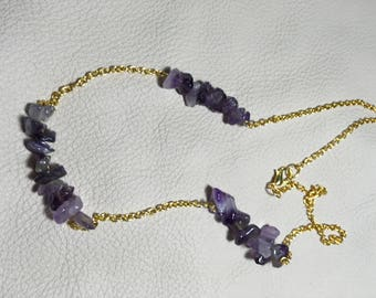 Amethyst Chip Necklace