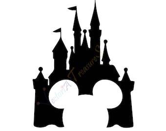 Disney Castle svg, Disney Castle Silhouette, Disney png, Disney files for Cricut, DIsney svg, Disney clipart, Disney vector, Disney poster