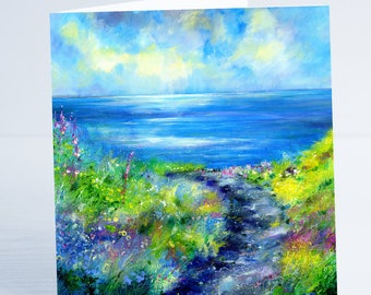 A Beautiful Day Cornwall - Greeting Card by Sheila Gill