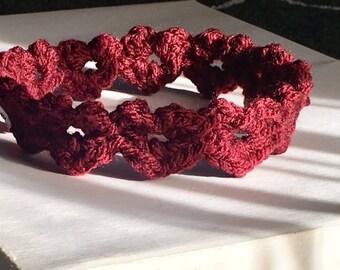 Newborn Crochet Valentine's/Heart Headband