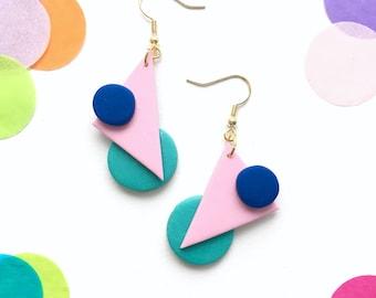Color Shapes Drop earrings