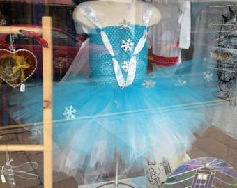 Ice queen tutu for girls - princess tutu - tutu dress, fancy dress costume