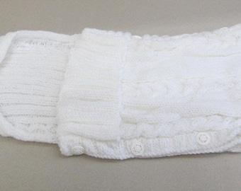 Babyzak Knitted, White