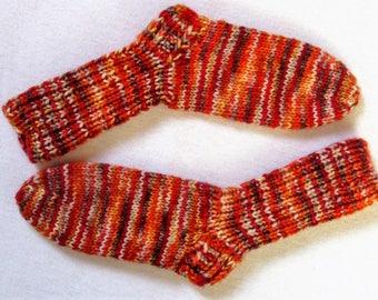 Handmade knitted socks wool socks knitted socks handmade hand knit socks wool hand dyed 6 fold/threads gr. 23/24