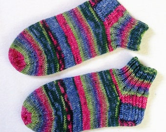 Hand knitted, self-knitted-sneaker, regia wool, knitted socks, hand knit socks, handmade 6 fold/threads gr. 38/39