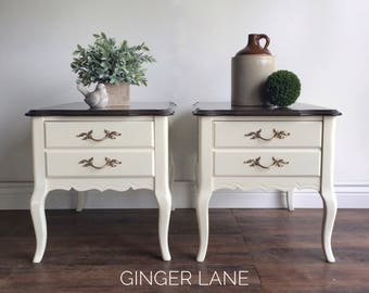 SOLD - French Provincial End Tables