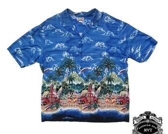 Vintage mens Hawaiian large shirt
