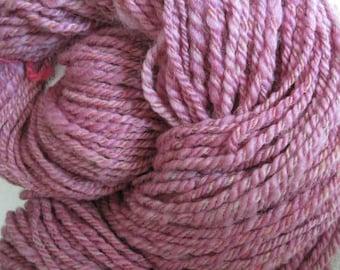 Hand Spun Three Ply Cochineal Yarn
