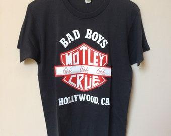 Vintage 80s Motley Crue T shirt