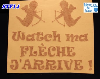Decal vinyl (decal) watch my arrow coming Valentine Cupid love