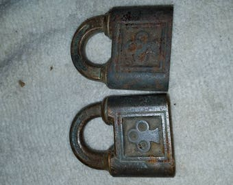 2 Old Antique Yale & Town Locks