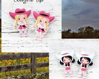 Cowgirl Resin Flatbacks, Hair Bows Wholesale, Horse, Country Western
