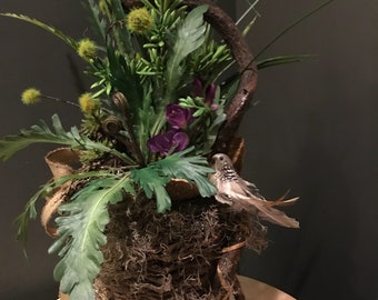 Vine Basket Floral Arrangement