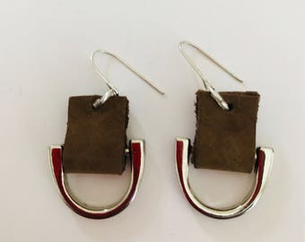 Suede and metal Earrings