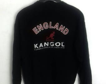 vintage KANGOL england sweatshirt crewneck jumper embroided logo medium size