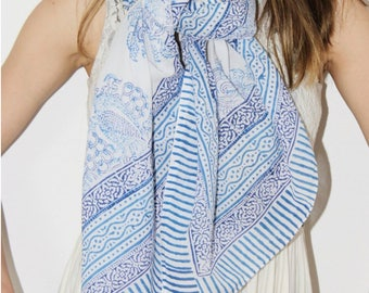 Neelam Cotton Handcrafted Scarf Sarong