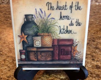 The heart of the home is the kitchen