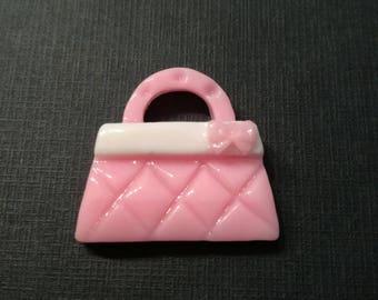 """""""Handbag pink"""" cabochon resin"""