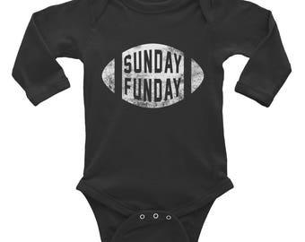 Sunday Funday Football Infant Long Sleeve Bodysuit