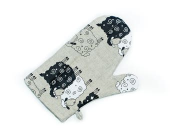 Oven Gloves Sheep Design