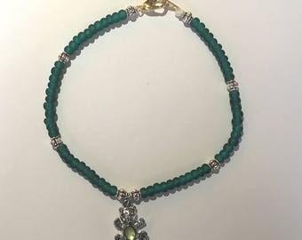 Blue and Teddy bear charm bracelet