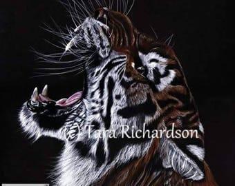 Wild. Siberian Tiger, Big Cat Art Print