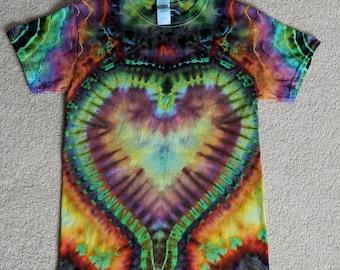 Small Tie Dye Heart T-Shirt